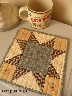 A cup of friendship.block by Barbara Brackman on her blog Civil War Quilts..