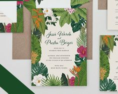 Destino tropical de invitación de boda invitación por Bdesignspaper