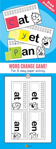 Mach ein Wortspiel - 10 Minutes of Quality Time - Family Games For Kids Classroom, Word Games For Kids, Word Family Activities, Group Games For Kids, Indoor Games For Kids, Icebreaker Activities, Literacy Games, Educational Games For Kids, Kids Party Games