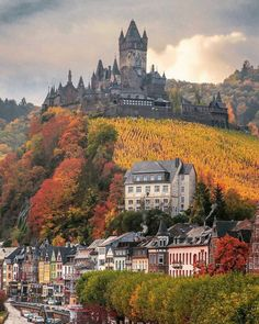 Beautiful Places Discover The castle on the hill Cochem Germany More memes funny videos and pics on Castle On The Hill, Germany Castles, Destination Voyage, Beautiful Castles, Beautiful Places To Travel, Wonderful Places, Romantic Travel, Travel Aesthetic, Germany Travel