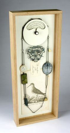 Zoe Arnold, Russet Bird...Great jewelry display...shadow box?...old hardware?