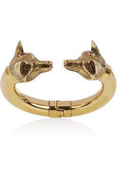 WANT Burberry Shoes & Accessories | Burnished gold-tone fox bracelet | NET-A-PORTER.COM