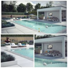 Pool Bar, Swimming Pools Backyard, Pool Landscaping, Terrazas Chill Out, One Storey House, Eco Garden, Pool Remodel, Pool Cabana, Backyard Patio Designs