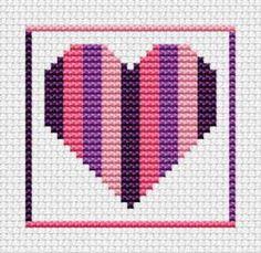 Sew Simple Heart cross stitch kit