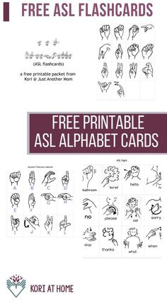 If you are looking to start teaching ASL (American Sign Language) to your child, I have a set of flashcards with the ASL alphabet and some beginning signs. Sign Language Games, Sign Language For Kids, Sign Language Phrases, Sign Language Interpreter, Learn Sign Language, British Sign Language, Asl Signs, Classroom Signs, Alphabet Cards