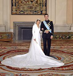 Queen Letizia of Spain at her wedding