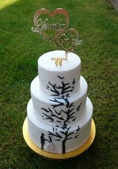 Wedding cake by AndyCake - http://cakesdecor.com/cakes/310814-wedding-cake
