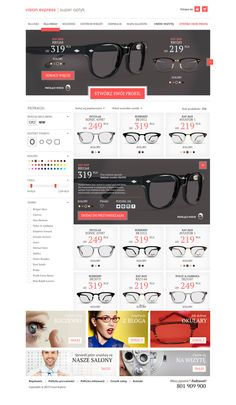 VISION EXPRESS - website redesign by Dominik Turek, via Behance
