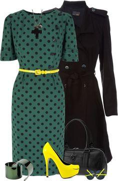 """Tea Dress"" by tacciani ❤ liked on Polyvore"