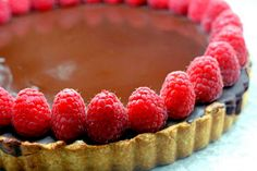 Chocolate Ganache covered  Marble Bakewell Tart