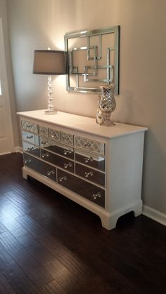 Hey, I found this really awesome Etsy listing at https://www.etsy.com/listing/243703360/mirrored-dresser-white-with-quatrefoil
