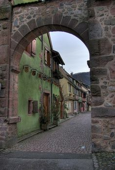 One of The Town Gates in Kayersberg, Alsace, France
