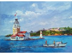 Pres Tuval Üzerine Akrilik Resimler – Hobbies paining body for kids and adult Evil Eye Art, Istanbul City, Turkish Art, Acrylic Canvas, Decoupage Paper, Pour Painting, Urban Sketching, Painting Techniques, Lighthouse