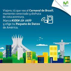 Si andas en Brasil disfrutando de tus vacaciones, sigue conectado con un Paquete…