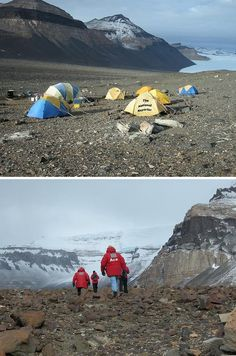 600 million year old fossils of tiny humanoids found in Antarctica, Anthropologists baffled - Above; basecamp. Below; Ace Flashman - he National Reporter fossilized skeletal remains of what appears to be extremely small humans have been discovered in the rocky terrain of Antarctica's Whitmore mountain range. Interestingly enough, this discovery was made while yours truly was in Antarctica on assignment for The National Reporter to debunk a ridiculous tabloid story about a UFO base in the…