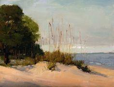 Dune Grass Study, 9 x 12, oil on panel, L. Daniel © 2012