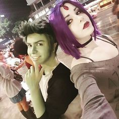 "bbraefan1530:  "" bbraefan1530:  "" BBRae cosplay inspired by @gabriel-picolo's art.  Cosplayers:  Fernanda Souza as Raven (Instagram, Facebook, Cosplay page)  Nathaniel Costa as Beast Boy (Instagram, Facebook, Cosplay page)  ""  I recently updated this post...."