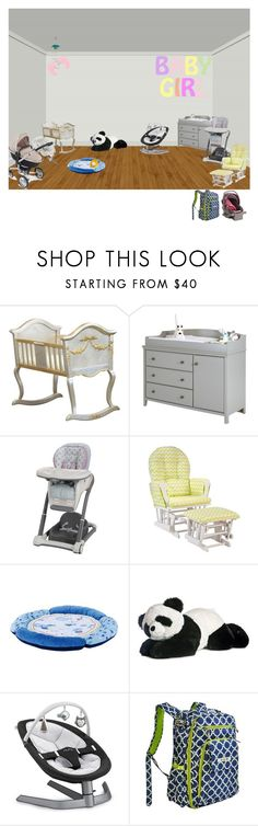 """Lily's baby room"" by theodora-morairty ❤ liked on Polyvore featuring interior, interiors, interior design, home, home decor, interior decorating, AFK, South Shore, Graco and Fisher Price"