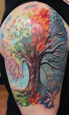 Image result for four season tree tattoo