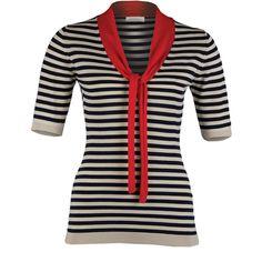 'April' striped sweater by John Smedley.