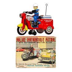 1957 Yoshiya Police Motorcycle Patrol In Original Box