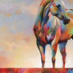 The Crossing • Abstract Horse Art Giclée Print