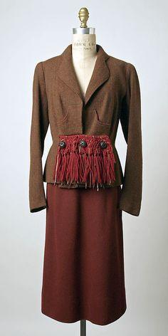 Jacket  Elsa Schiaparelli (Italian, 1890–1973)  Design House: House of Schiaparelli (French, 1928–1954) Date: fall 1938