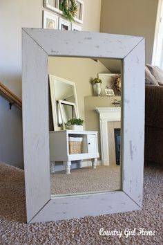 How to frame an old mirror
