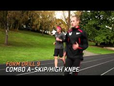 Ryan learns how to do variety of form drills used by professional distance runner Dathan Ritzenhein. Each drill targets specific muscle groups using movement. Running Drills, Running Form, Running Race, Running Workouts, Training Tips, Strength Training, Dynamic Warm Up, Dynamic Stretching, Fitness Exercises