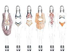 Fashion Sketchbook - fashion illustrations; line up; fashion portfolio // Aile Hua