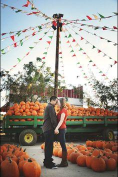 Our pumpkin patch engagement photos :)