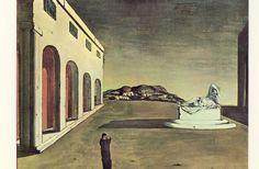 """@Amber Parkerît M. Le Penven l'Ariane endormie dans """"La melancolie d'une belle journée"""" de Giorgio De Chirico, 1913"""