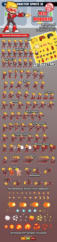 Game Character Sprite 10 Download here: https://graphicriver.net/item/game-character-sprite-10/10269623?ref=KlitVogli