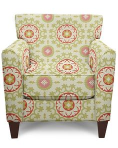 Allegra Stationary Occasional Chair by La-Z-Boy... This would never survive my house, but I love the pattern!