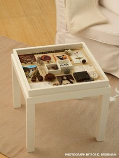 "Lack coffee table + 19"" Ribba frame 