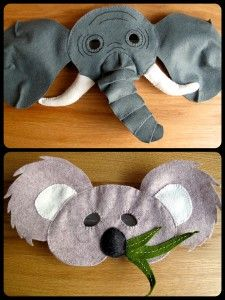 Fun Felt Animal Masks for kids