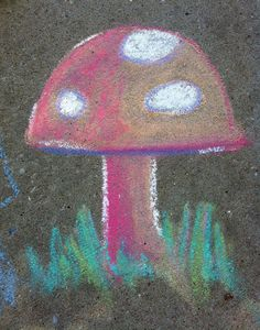 Draw with chalks and then brush it with a paintbrush: gives it a paint effect!