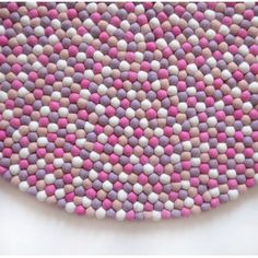 Cute Pink Felt Ball Rug. Decorate your daughter room with this pinky rug.  Completely