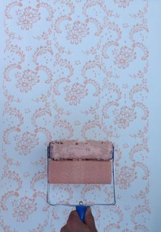 Patterned Paint Roller in Symphony Scrolls and applicator by Not Wallpaper Patterned Paint Rollers