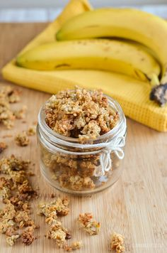 A delicious healthy Banana Granola that is great for breakfast or dessert. Since I made the pumpkin. Great as it is or drizzled with milk or yoghurt.