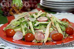 Salada de Peito de Peru com Rabanete » Aves, Saladas » Guloso e Saudável