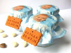 Contenant de dragées personnalisable, biscuit personnalisé, photo imprimé sur tissu. Création sur-mesure.