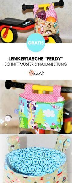 Gratis Anleitung: Lenkertasche selber nähen - Schnittmuster und Nähanleitung via Makerist.de