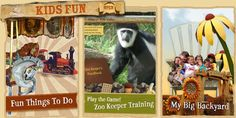 Cheyenne Mountain Zoo – Kids' Fun  Click on the Zoo Keeper Training image for fun interactive time with zoo animals.