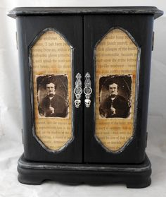 Gothic Jewelry Box  Edgar Allan Poe  RESERVED by NacreousAlchemy, $40.00