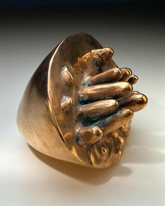 Louise Bourgeois, Germinal, 1967, bronze with gold patina.