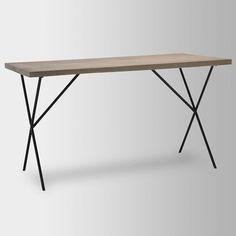 metal truss work table west elm bandero office desk 100