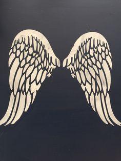Barleycorn vintage stencils. Raised stencil angel wings