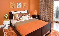 9 buenas ideas para pintar un dormitorio de naranja