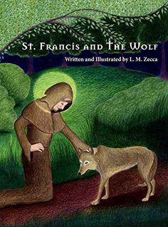 "St. Francis and The Wolf:   A delightfully illustrated version of the classic tale of St. Francis and The Wolf, this picture book includes a vibrant storyteller and a host of animals. This story of kindness to animals and the compassion of St. Francis of Assisi is comprised of 29 hand drawn illustrations. ""St. Francis and The Wolf"" is a modern adaptation with universal appeal."